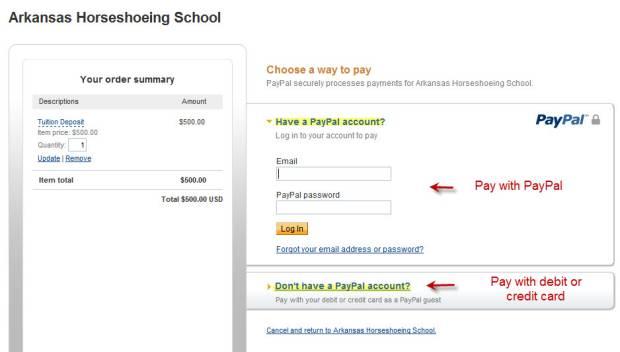 Farrier School Payment